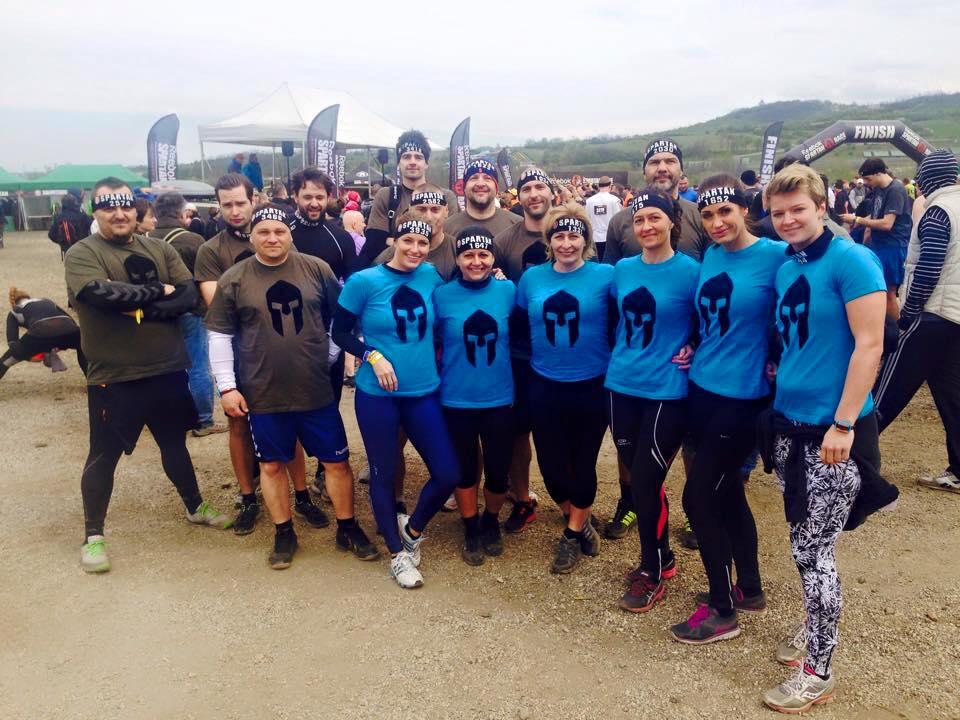 A BSK csapata az egyik Spartan Race-n