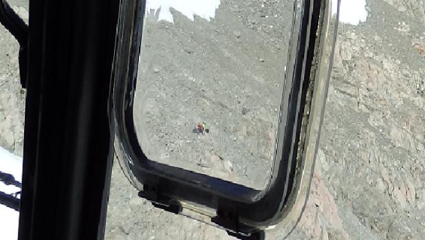 Egy fotó a mentőhelikopterből