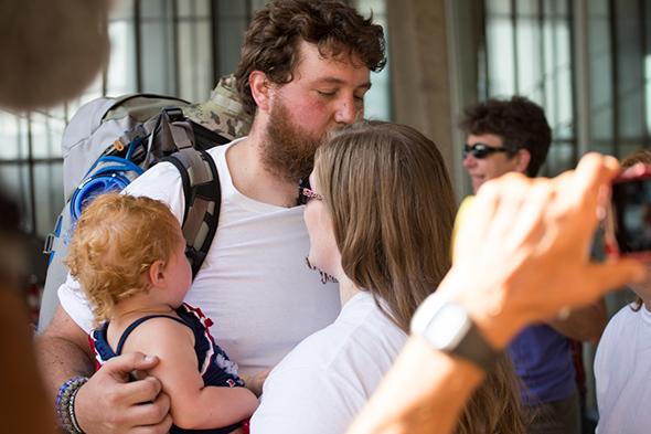 Anderson a családjával