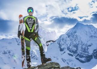 Armin Senoner´s Weltrekordversuchanzug an der Königspitze in Sulden Südtirol