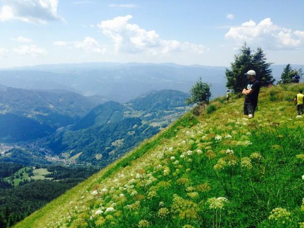 Nagy Máté a start előtt a hegy oldalán (Fotó: Bajor Boldizsár)