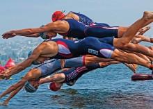 Swim Start of the F1 Triathlon in San Diego