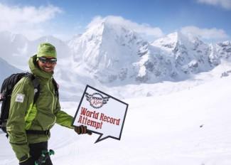 Armin Senoner is testing for the Worldrecord in speedflying