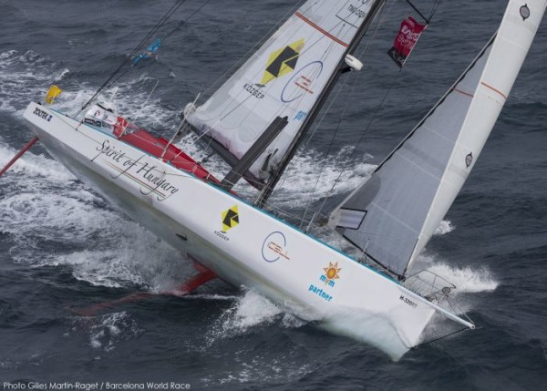 23/12/2014, Barcelona (ESP), Barcelona World Race 2014-15, Barcelona Trainings, Spirit of Hungary (Nandor Fa, Conrad Colman)