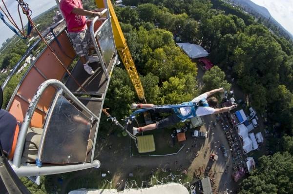 2011-ben még volt bungee jumping a Szigeten
